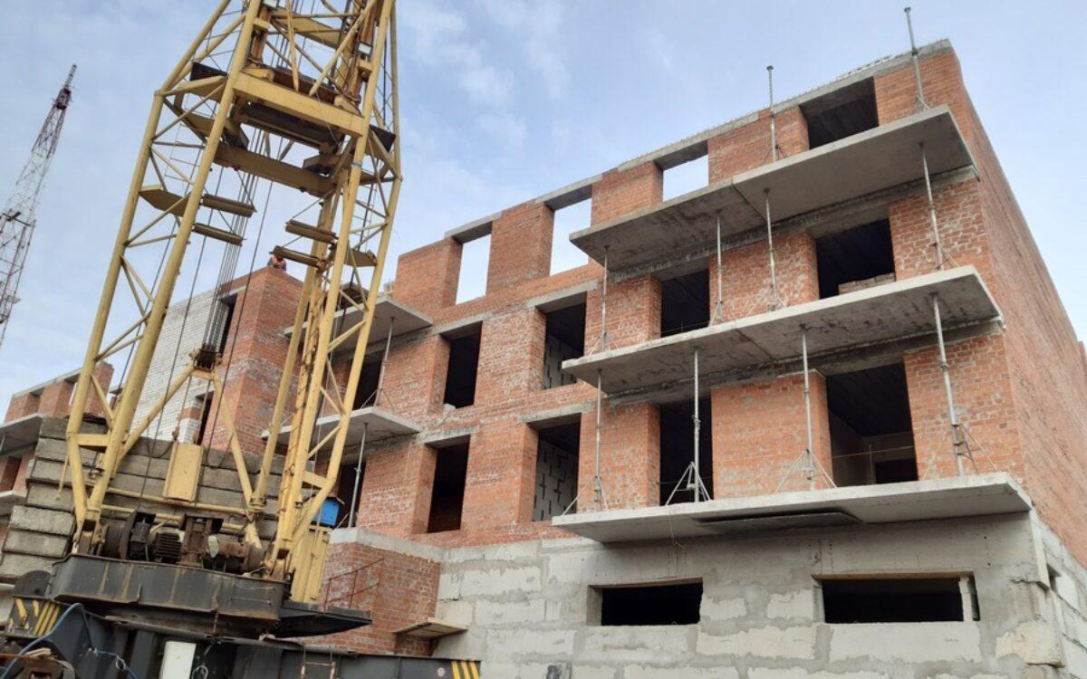 начинаем перекрытие 5-го этажа секции № 2