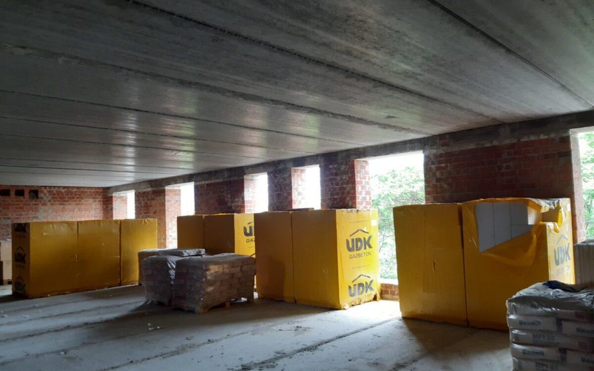 Готовимся к возведению внутренних перегородок в секции №1 на 6 этаже