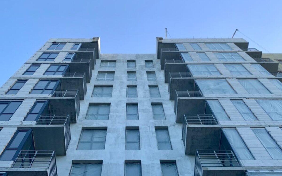 Утепление фасада секции №2