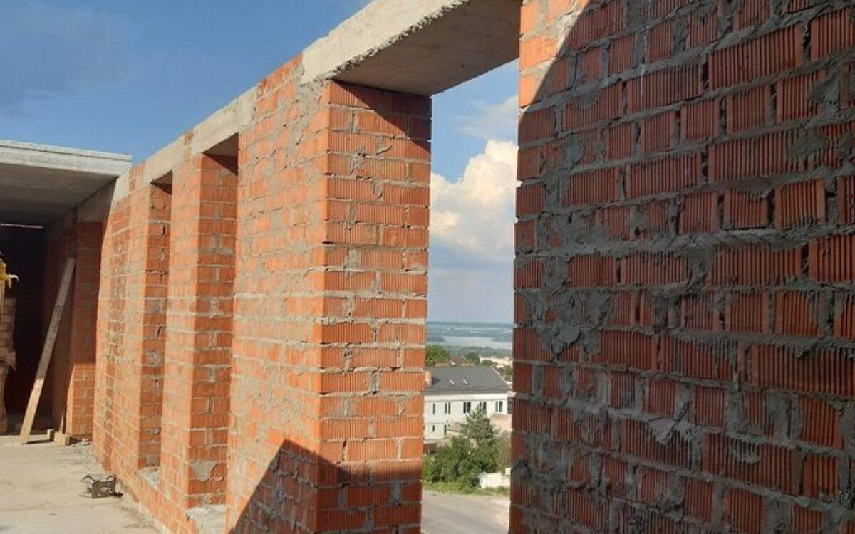 Возведение 8 этажа, секция №1