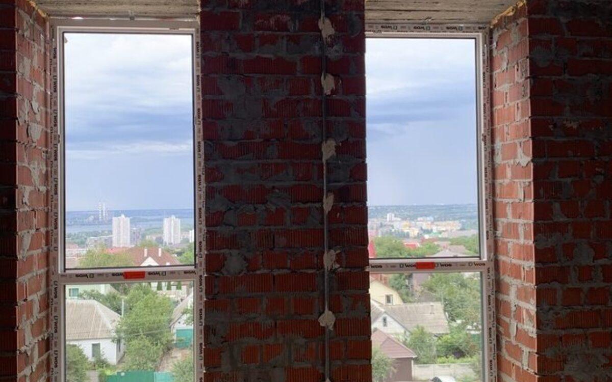 Установка окон 5 - 6 этаж, Секция 1