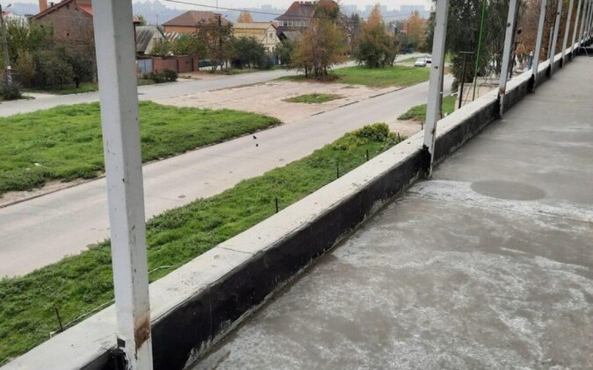 Заливка стяжки на террасах